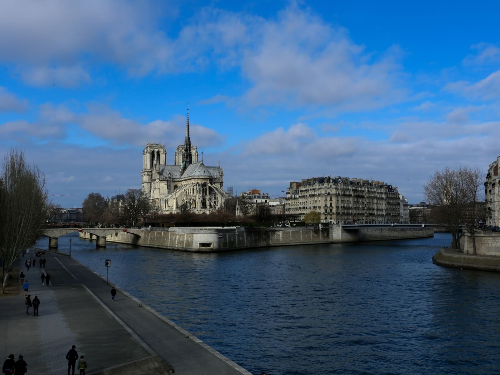 Ile de la Cite seen from the back of Notre Dame Cathedral