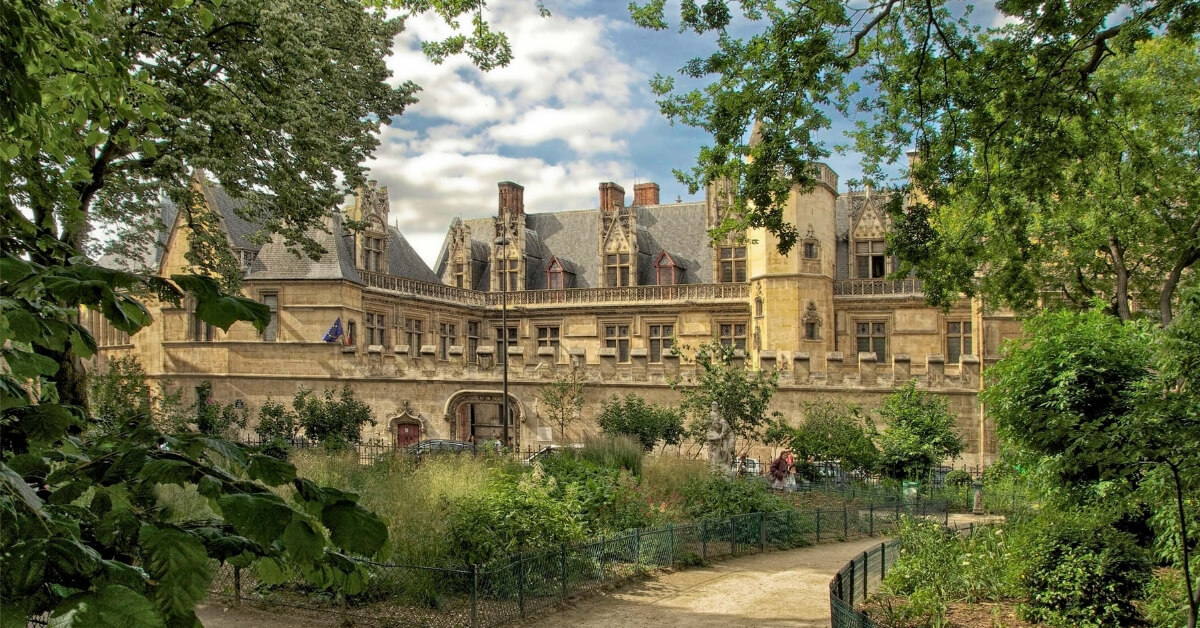 The back side of the Cluny Museum in Paris: Cluny Museum Walking Tour Episode