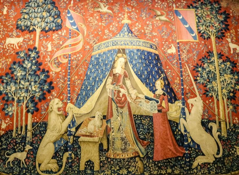 the lady and the unicorn at the cluny museum