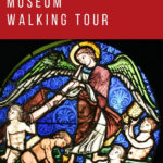 Stained-glass window at the Cluny Museum in Paris: Cluny Museum Walking Tour Episode