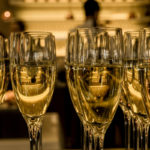 Champagne flutes on a table: champagne region episode