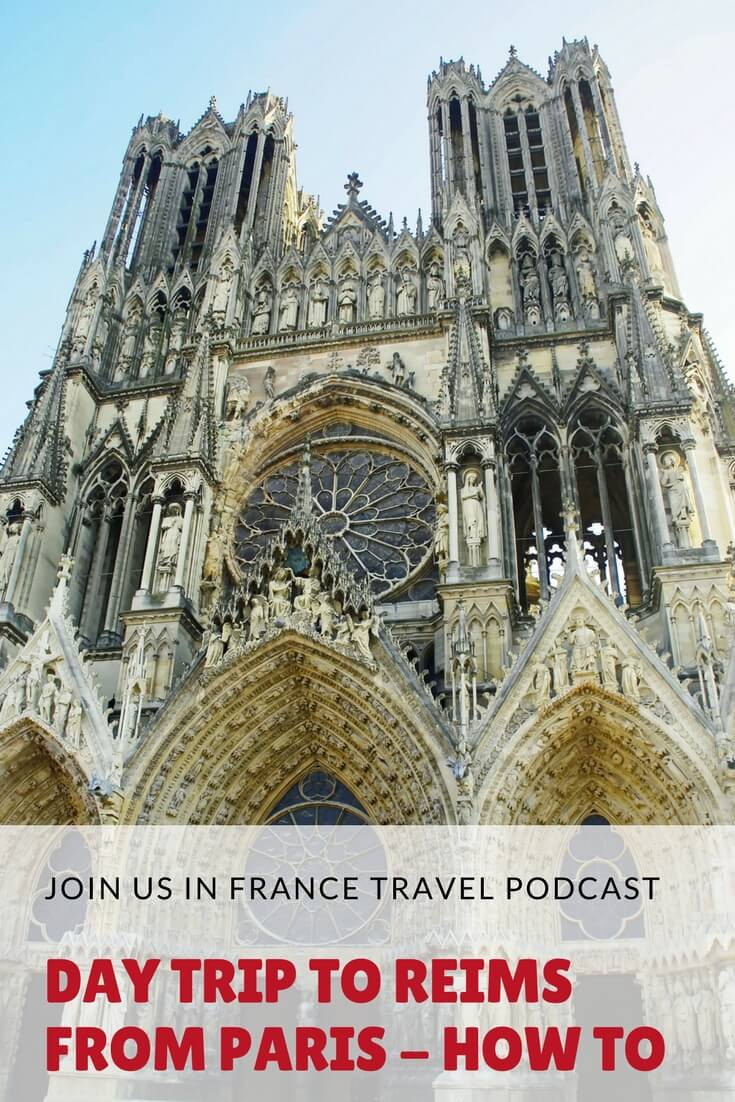 How about venturing out of Paris to go drink some champagne at the source? You could also see  one of the most fantastic Cathedrals you'll ever experience in France: Notre Dame de Reims where French Kings were crowned. Do it all in one day on the TGV bullet train. Ready for the ride? Listen to this episode and make your plans!