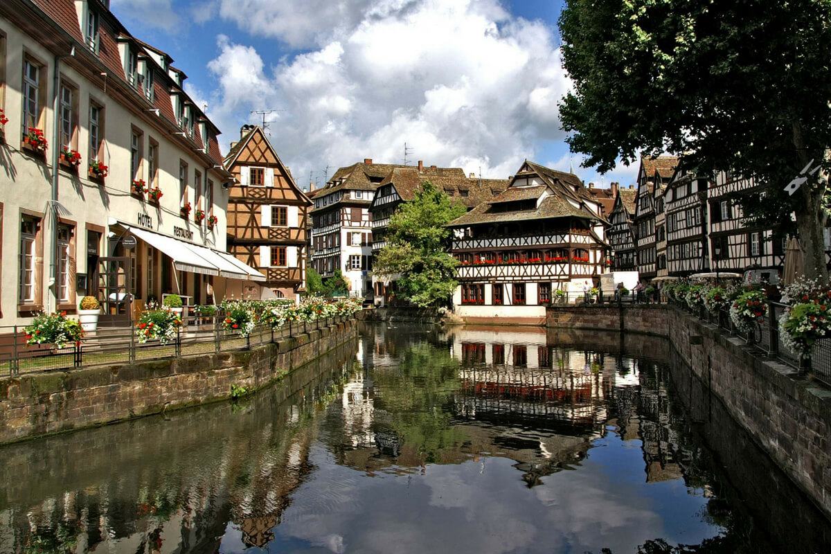 Strasbourg: canal and half timbered houses