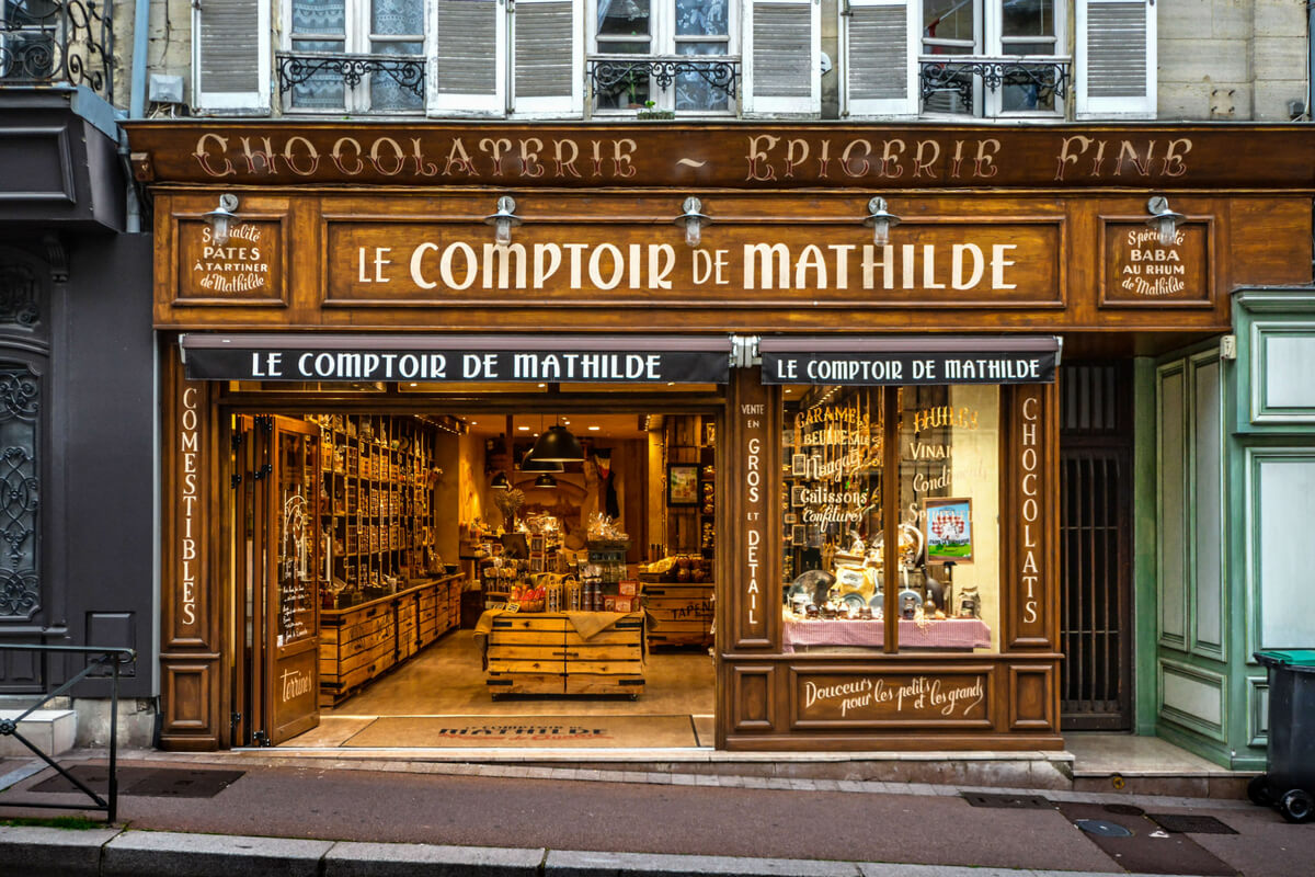 Le Comptoire de Matilde store: french food