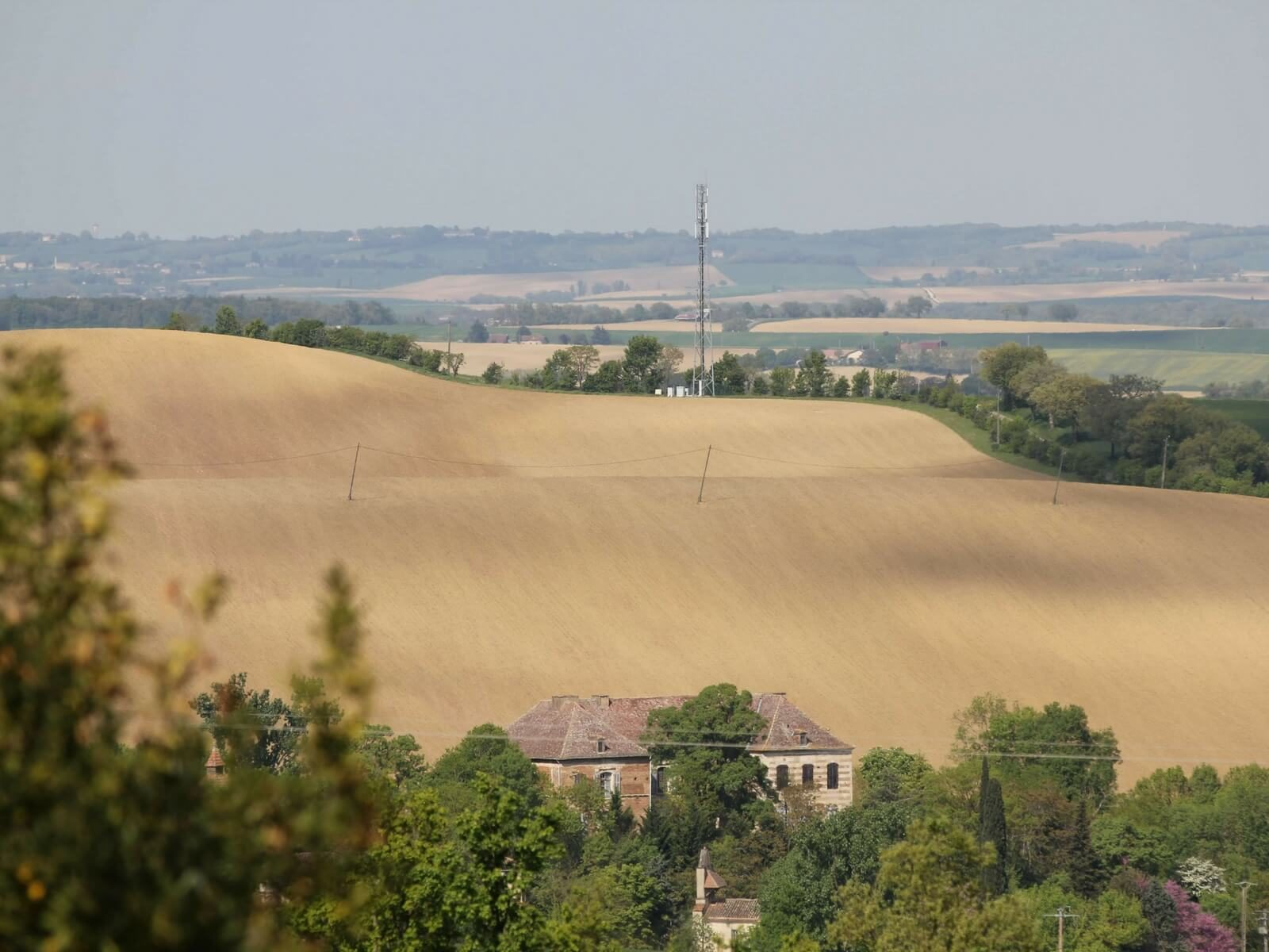 country landscape in the Gers in southern France; the rules of driving in france