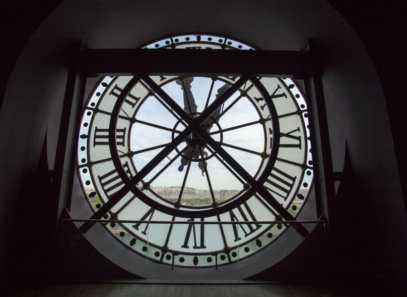 the Orsay museum clock seen from the inside