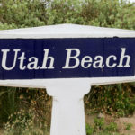 Photo of of a Utah Beach marker: D-Day History
