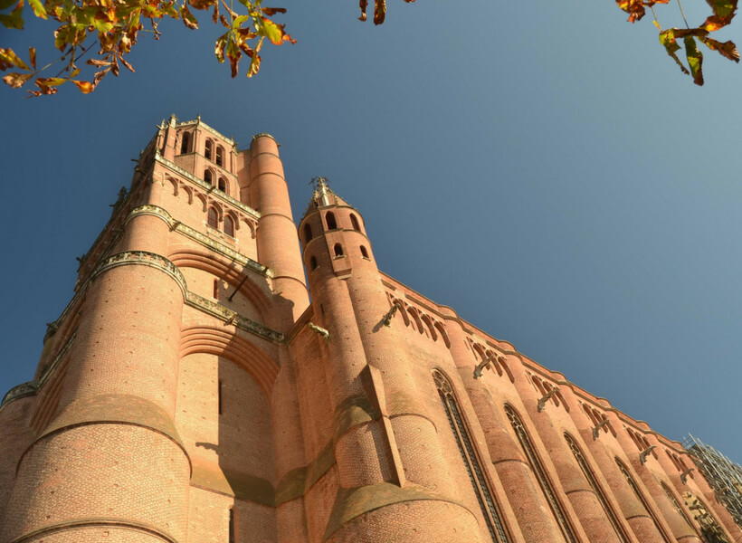Albi Cathedral, red brick and blue sky