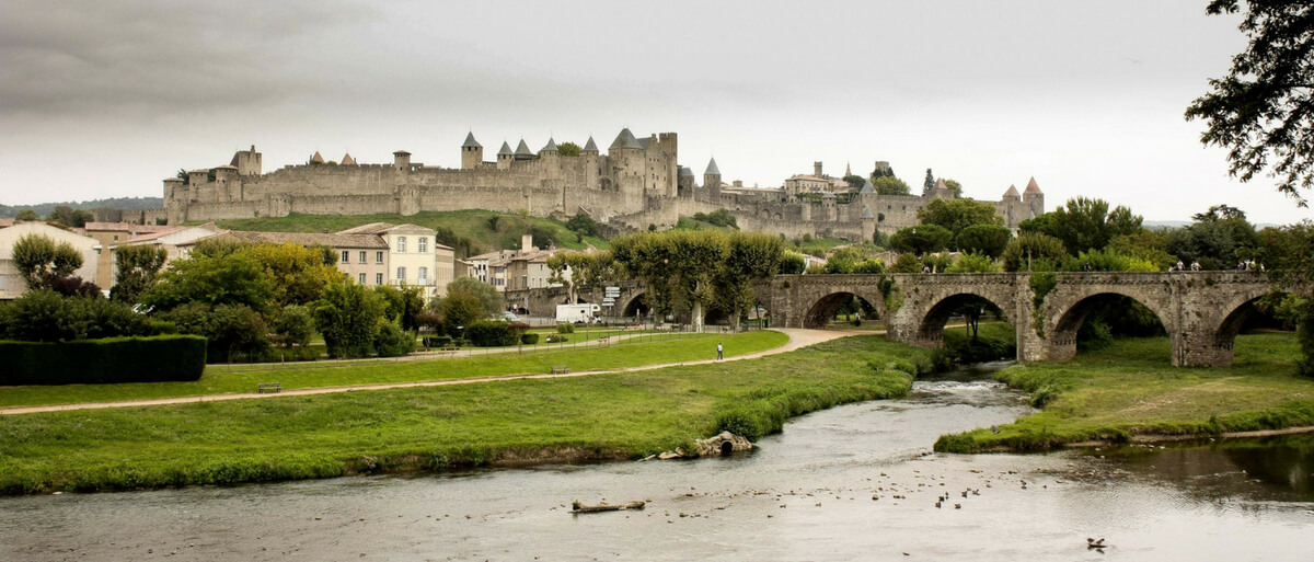 Carcassonne France seen from a distance