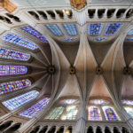 Looking up the cieling of the Chartres Cathedral