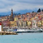 view of the port of Menton, France
