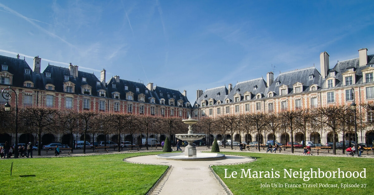 Place des Vosges in the Maris in Paris