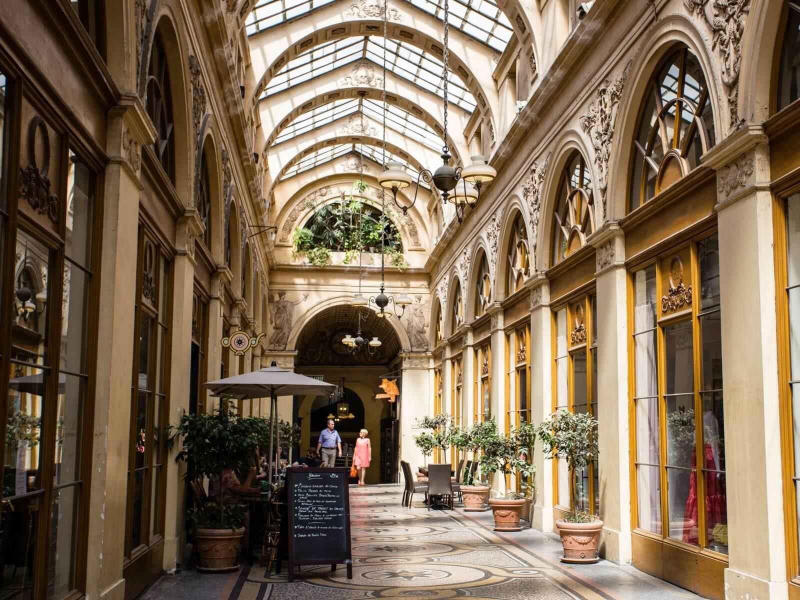 covered passages in paris: galerie panorama