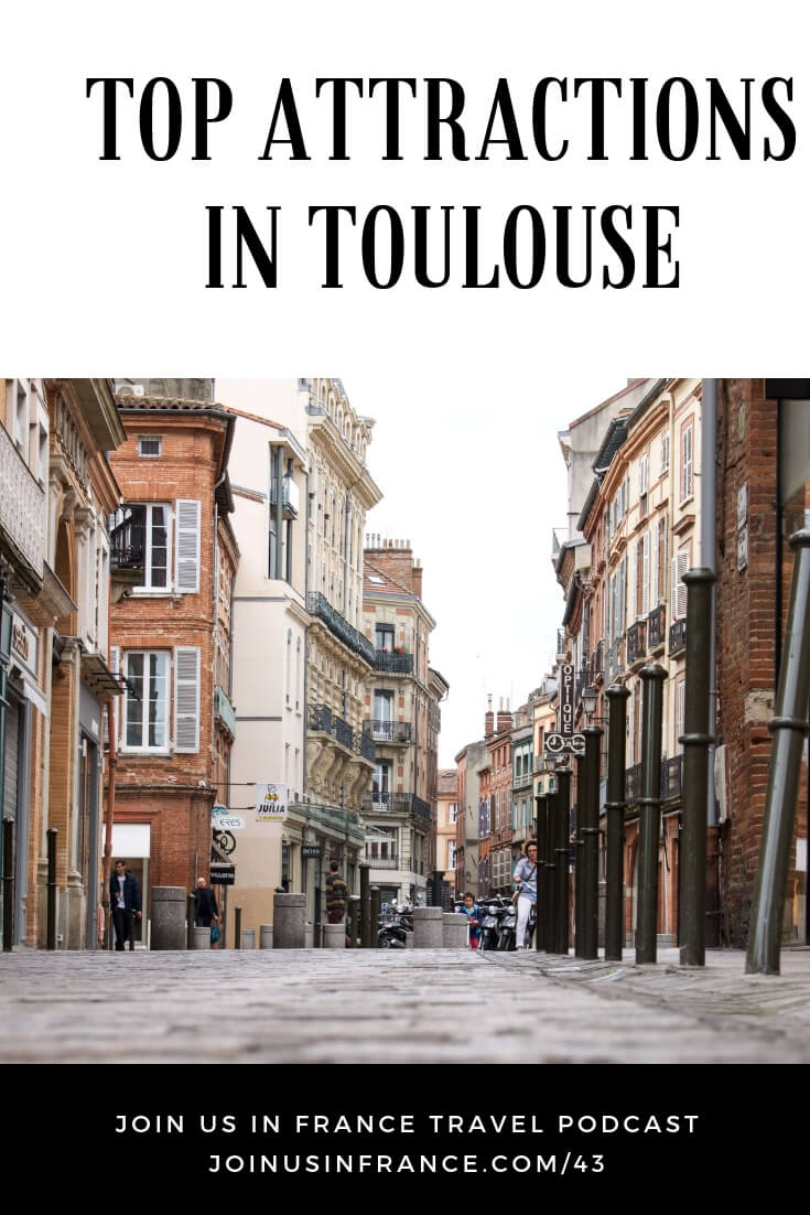 What are the top attractions in Toulouse, France? Toulouse is a vibrant youthful city with plenty of great restaurants and bars. But it is also a place where you can admire the Saint-Sernin Basilica, Capitole square and the reception gallery