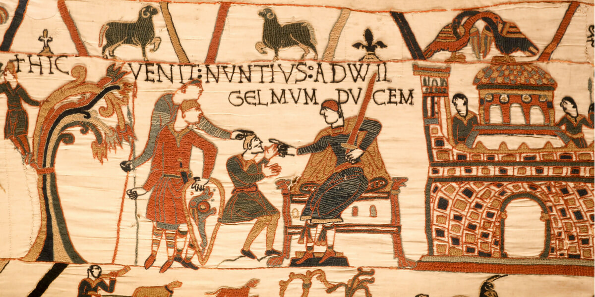 A detail of the Bayeux Tapestry