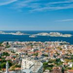 Overall view of Marseille, France in the day time