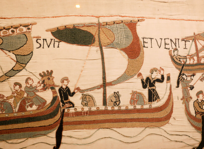 A detail of the Bayeux Tapestry: boats