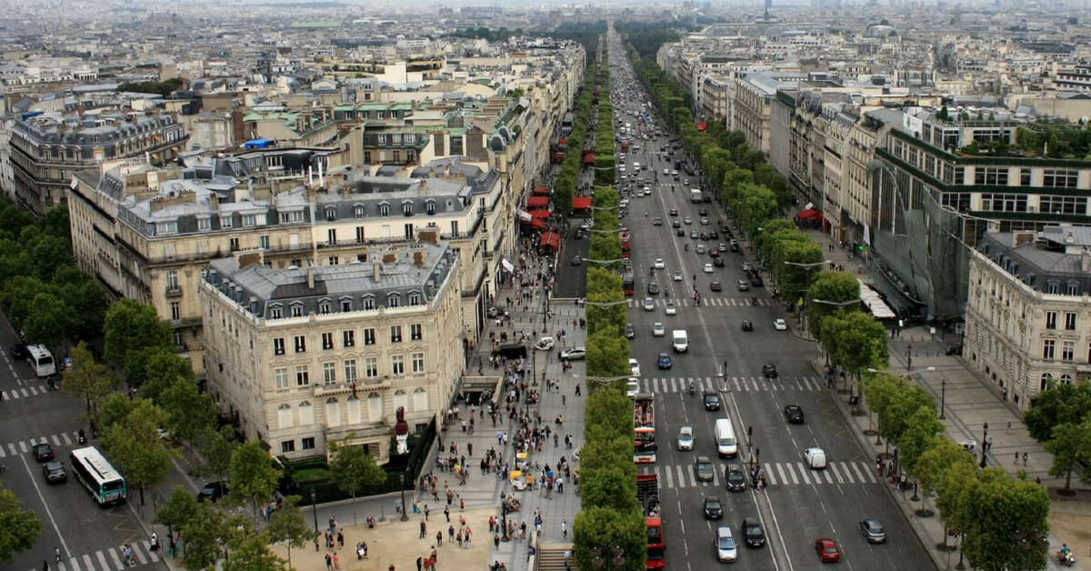champs elysées seen from above: what to skip in paris episode