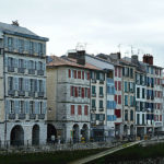 Bayonne houses on the banks of the river