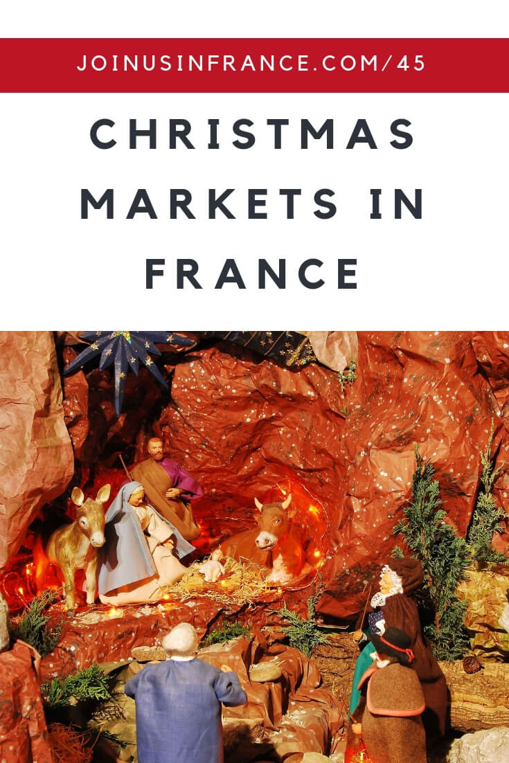 Thinking about visiting France around Christmas time? You should definitely learn about Christmas Markets in France so you can decide if you'd like to visit some of them in person! The history of Christmas Markets goes back to the 1300s in Germnay, with the Alsace region in France following soon after. But not all Christmas Markets are made equal. Some are a lot bigger and a lot better than others #Christmas #France #Alsace #Paris #Provence #Santons #Creche