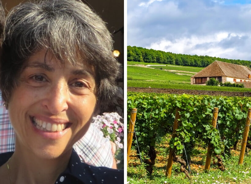 Kelly Kamborian and vineyard: Burgundy Region and Wine Episode