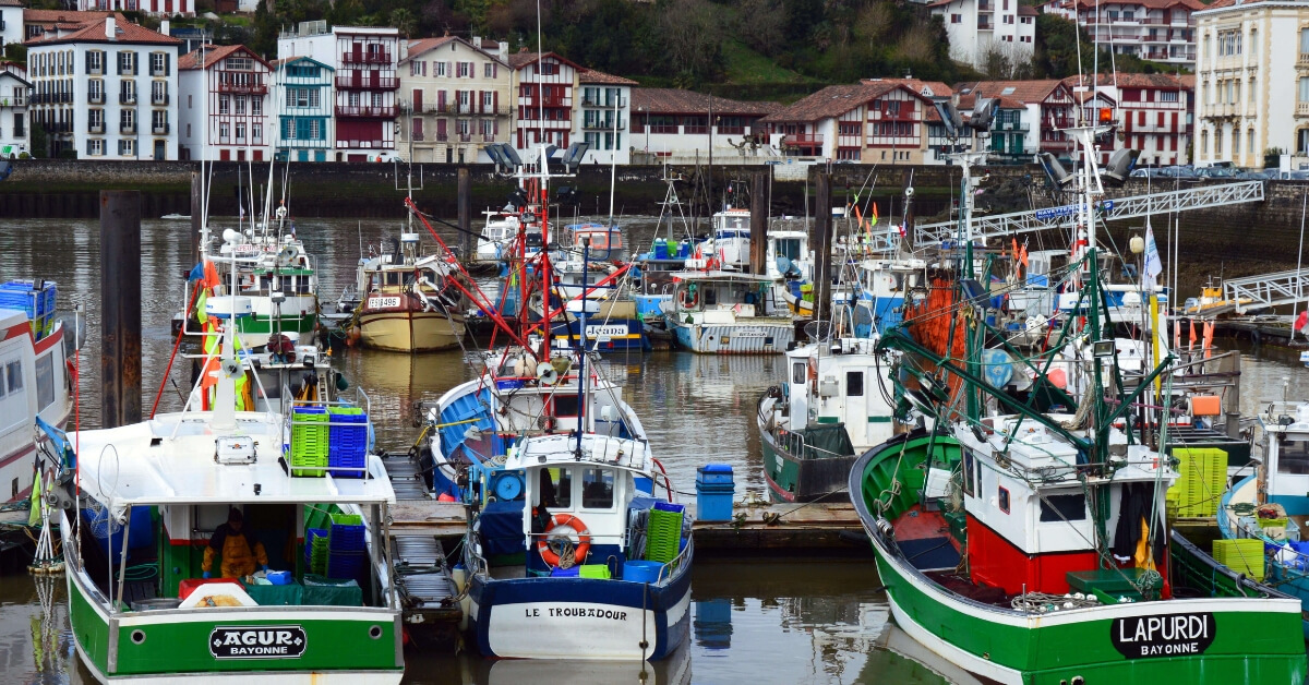 colorful boats at Saint-Jean-de-Luz: basque country episode