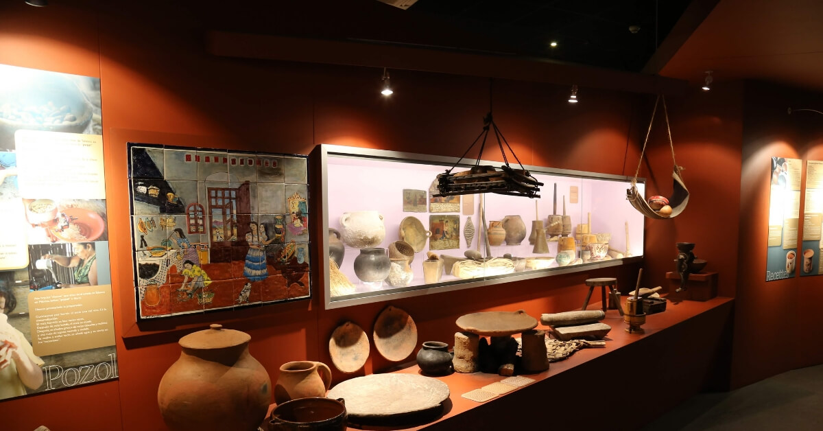 display of chocolate-making implements at the chocolate museum in Paris