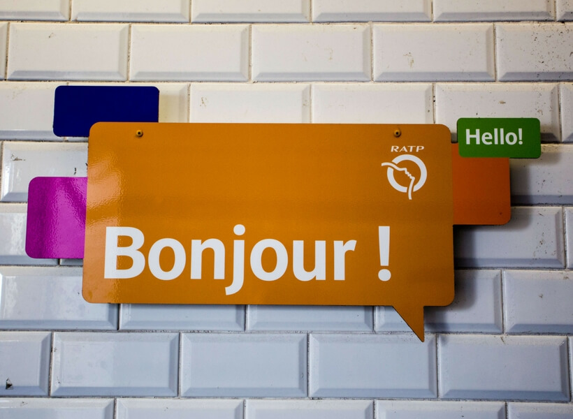 bonjour sign in the paris metro: 10 tips for getting around paris episode