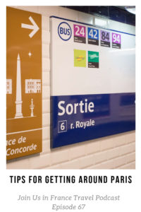 Signs inside of the Paris metro