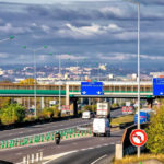freeway entrance for the toll road that leads to Lyon