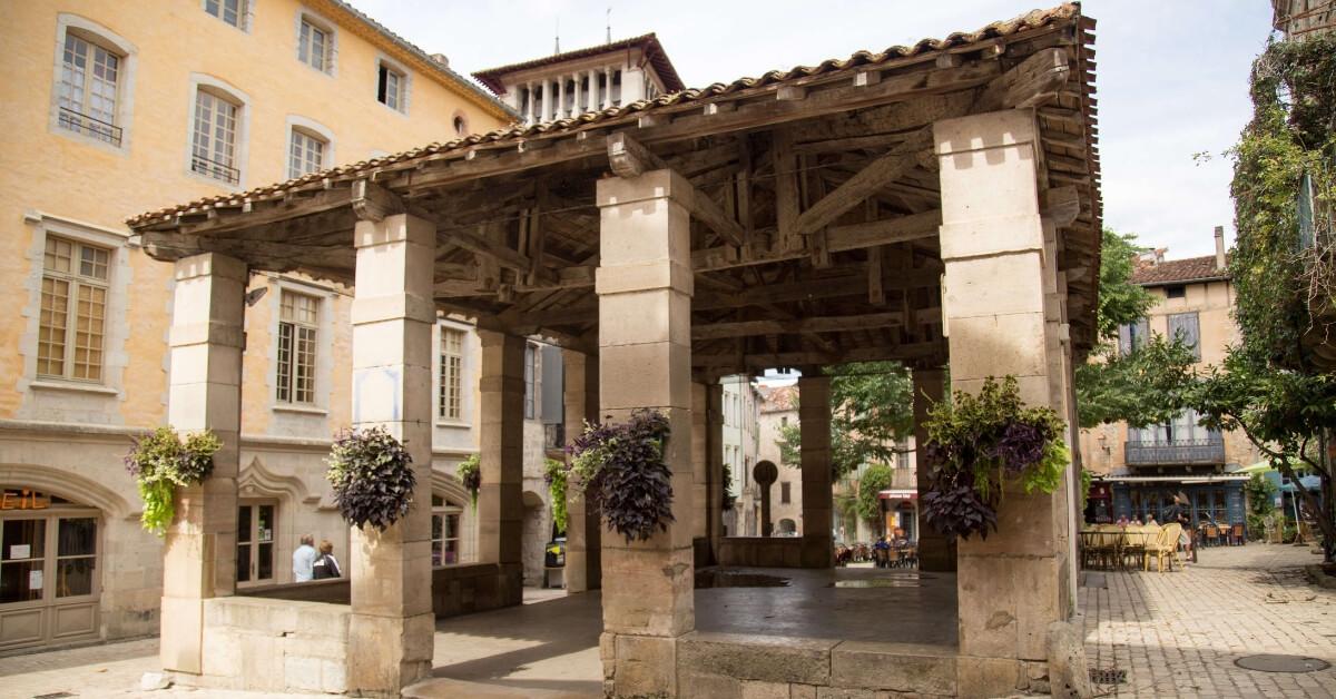 Covered market in Saint Antonin Noble Val: Corbières and Tarn Trip Report Episode