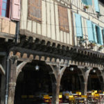 half-timbered houses in Mirepoix