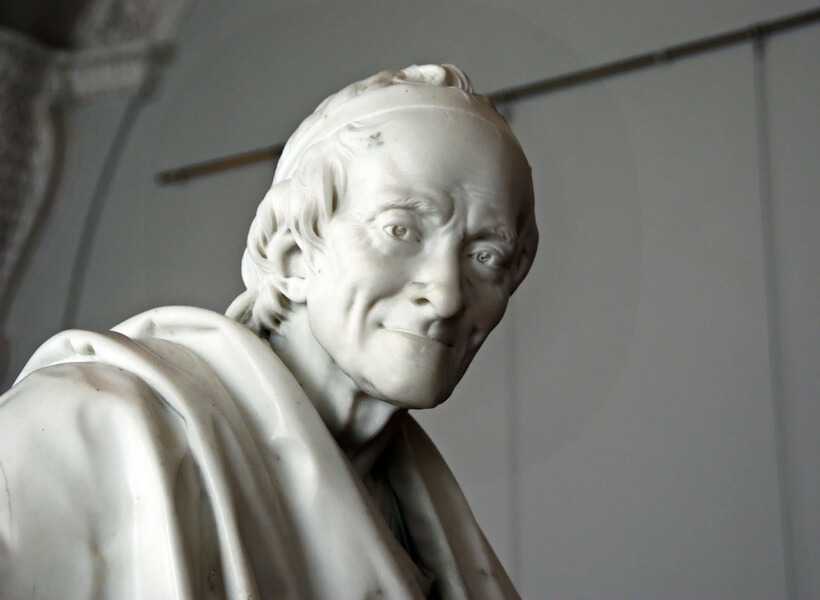 statue of Voltaire at the Hermitage in Saint Petersbourg, Russia