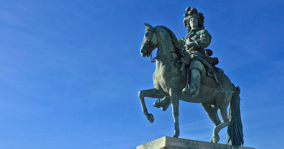 Louis XIV on a horse: Louis XIV