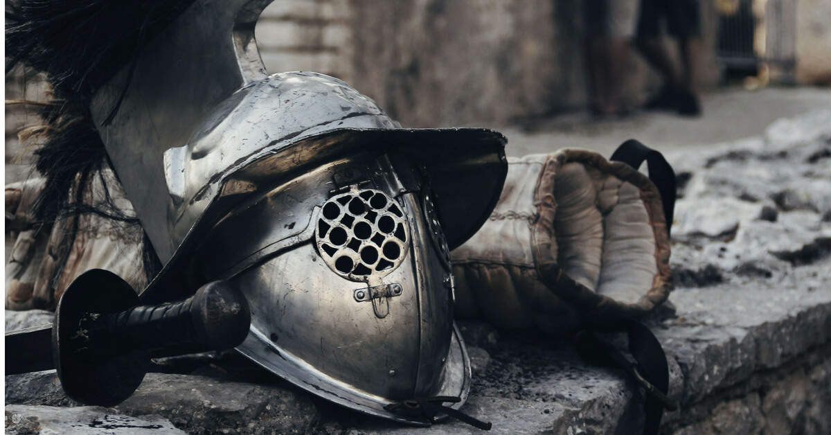 medieval helmet and glove: the battle of agincourt episode