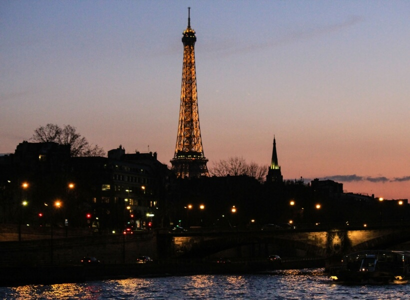 paris highlights; view from the bateaux mouches