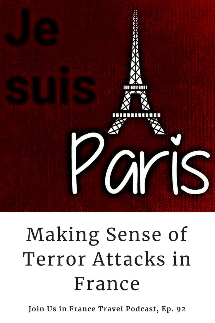 Terror attacks are a scourge in many countries, including France. In today's episode we discuss what happened at the Bataclan and put it in the French historical perspective. We also share best practices that will help you find safety no matter what circumstances you find yourself in.