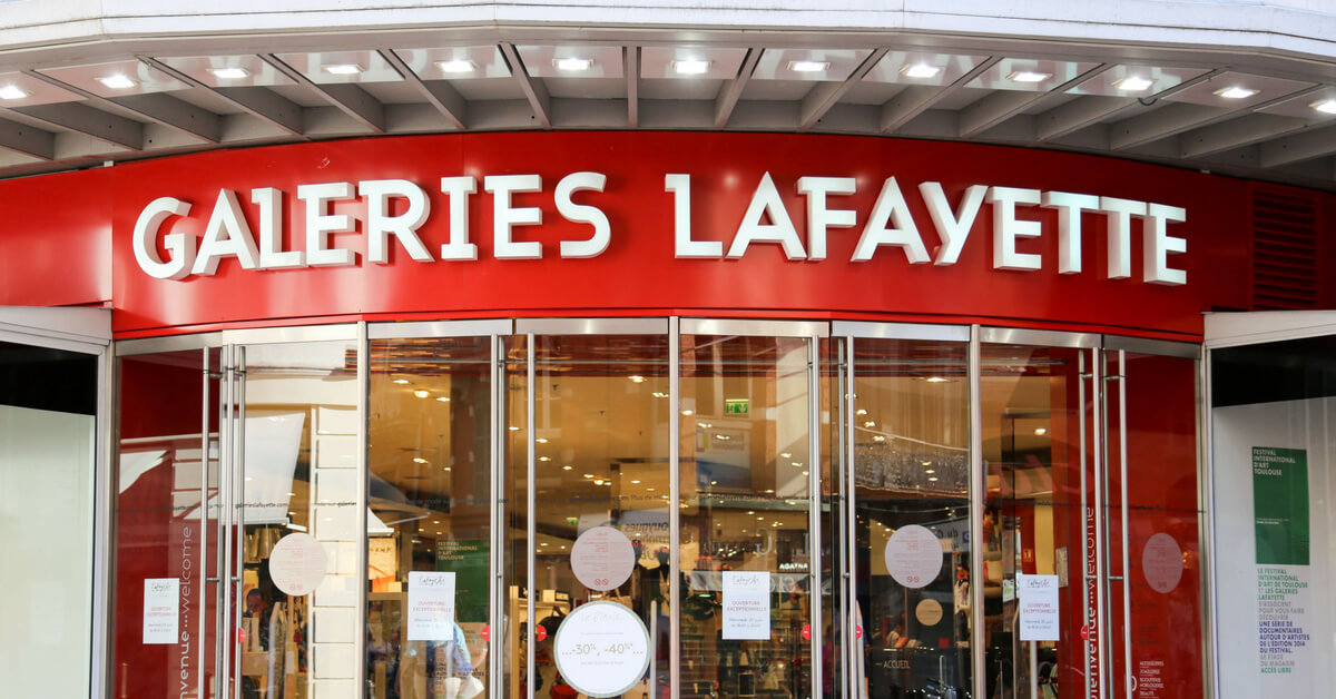 galeries lafayette store in toulouse, france