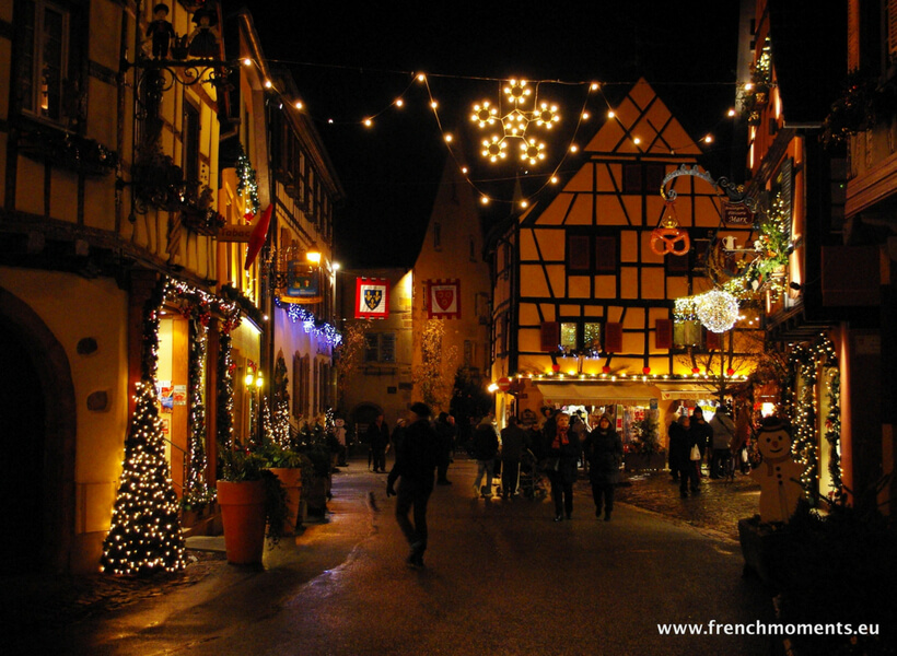 Decorated street all lit-up: Christmas in France Episode