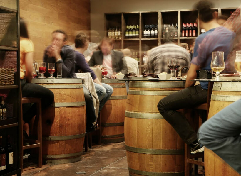 people enjoying wine at a wine tasting place: burgundy wines episode