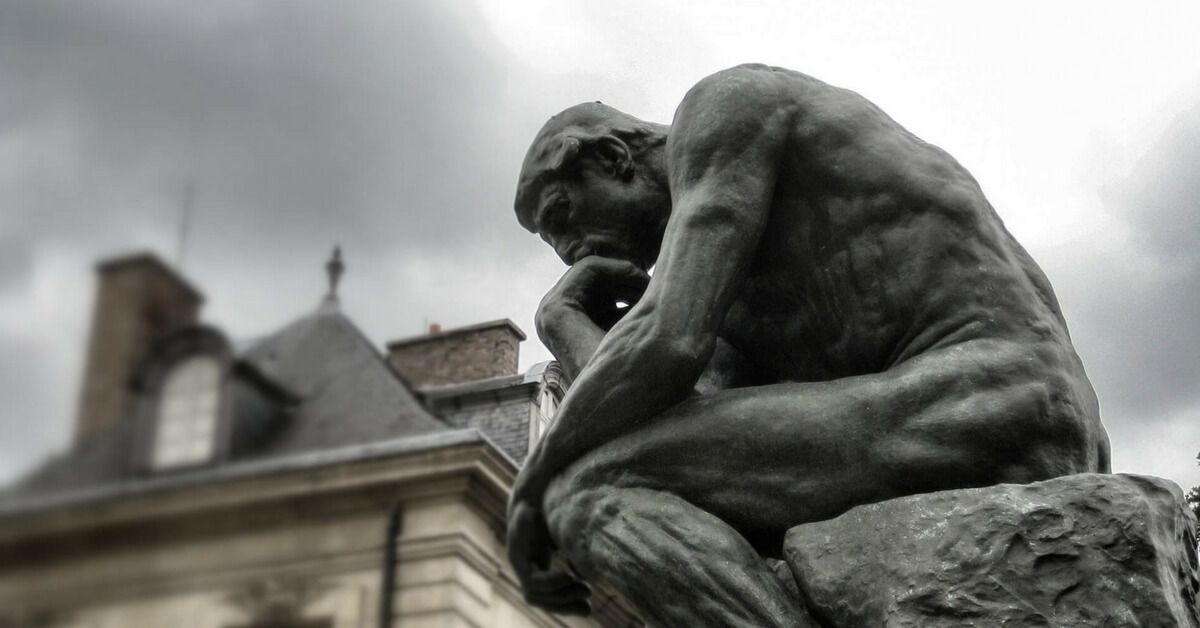 The Thinker at the Rodin Museum in Paris