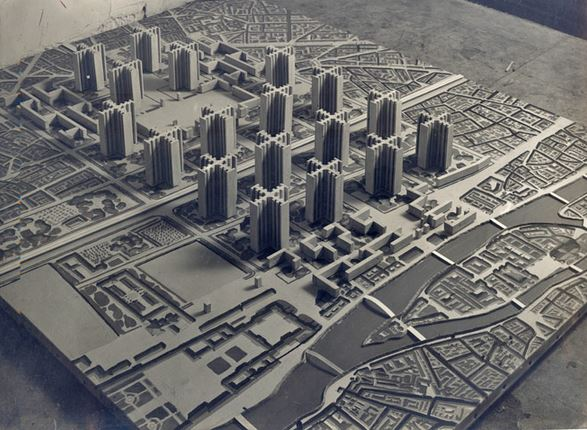 High-rises buildings called Plan Voisin submitted by Le Corbusier