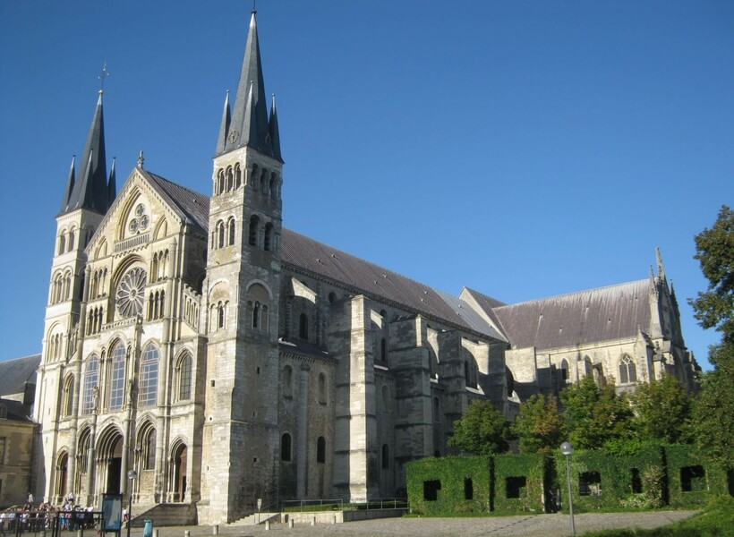 Cathedral of Saint Rémy in Reims; six day trips from Paris