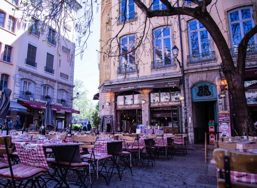 restaurant terrace: top attractions in Lyon episode