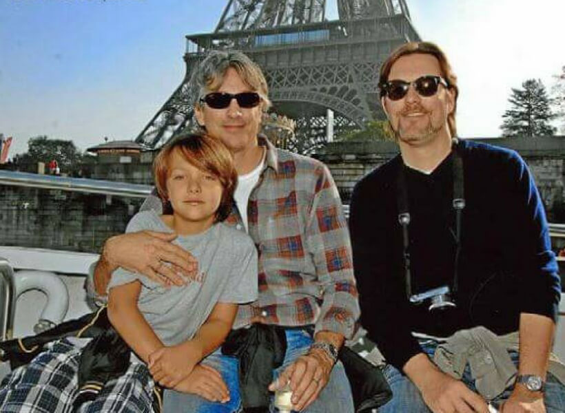Two Dads in Paris: family photo