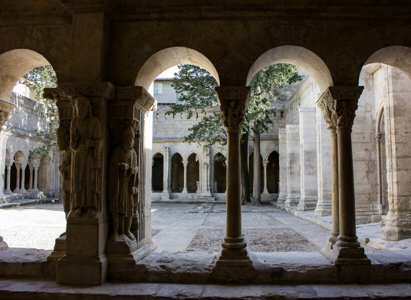cloister in the Camargue and Gard area