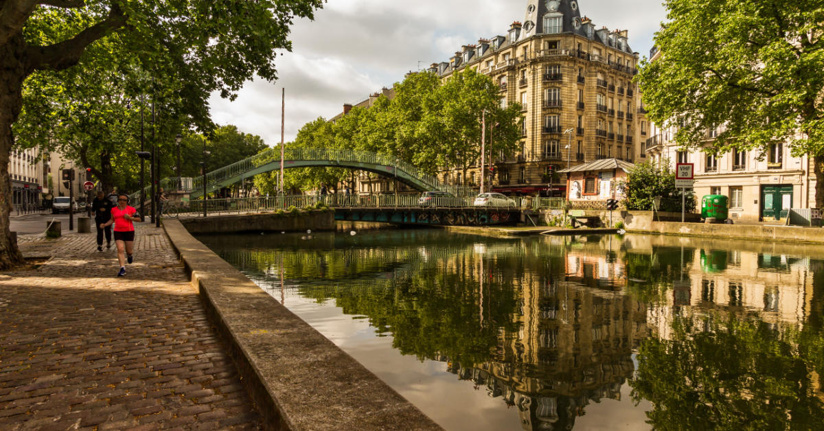 Canal Saint-Martin and bridge