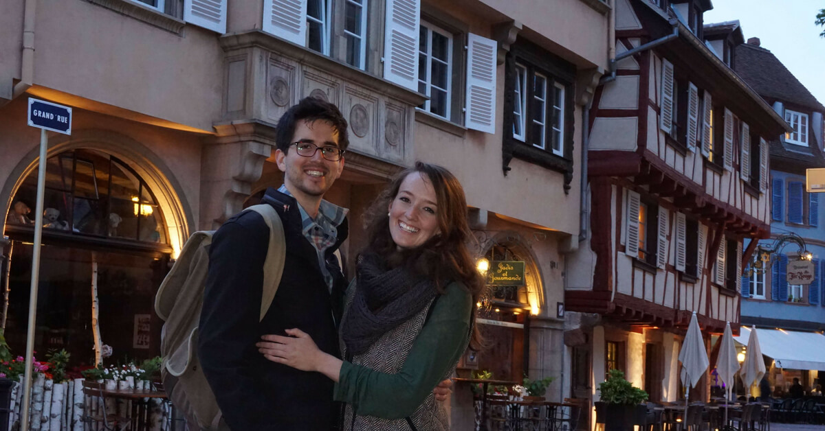 Katie and Nathan in Colmar and Alsace