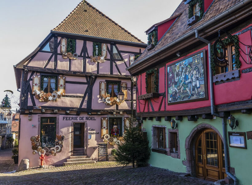 Half-timbered houses in Alsace
