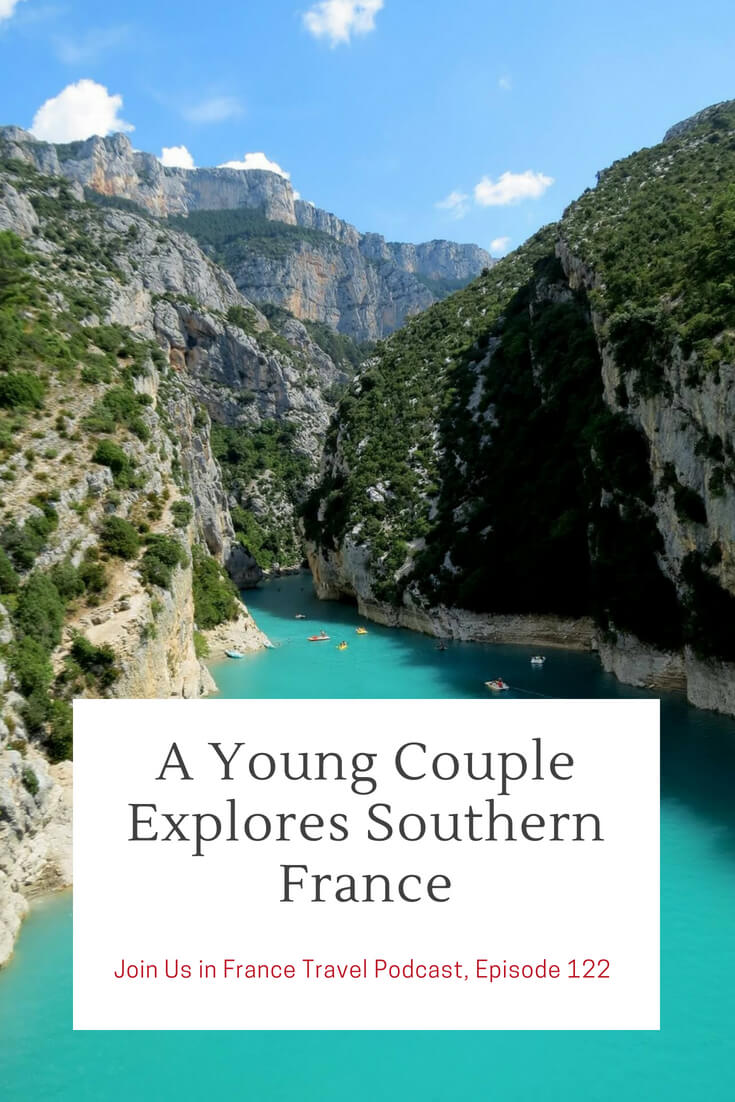 Looking for a beautiful off the beaten track area in France? Here is one, the  Verdon Gorge! In this episode we also discuss the charms of Provence and Carcassonne and share tips on how to get the right information for your own trip to southern France.